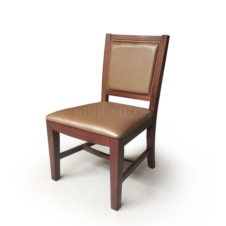 餐椅 进口实木框架+皮艺软包 PT1578Y W470*D570*H890 mm
