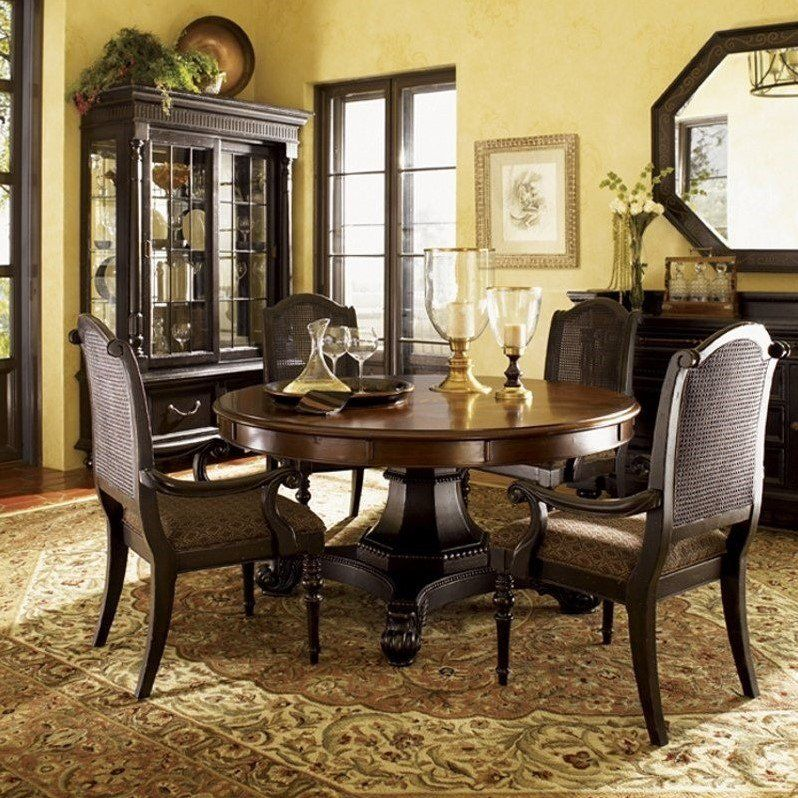 Tommy Bahama Home Kingstown Bonaire Round Formal Dining Table In