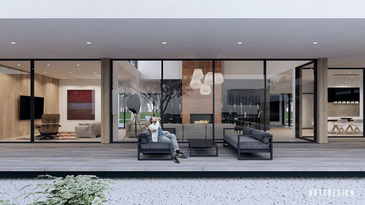 An Amazing Cantilever Home With Brilliantly Integrated Courtyards ...