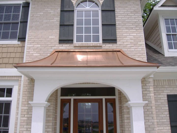 Copper Roofing Over Bay Windows Custom Copper Hoods Bay