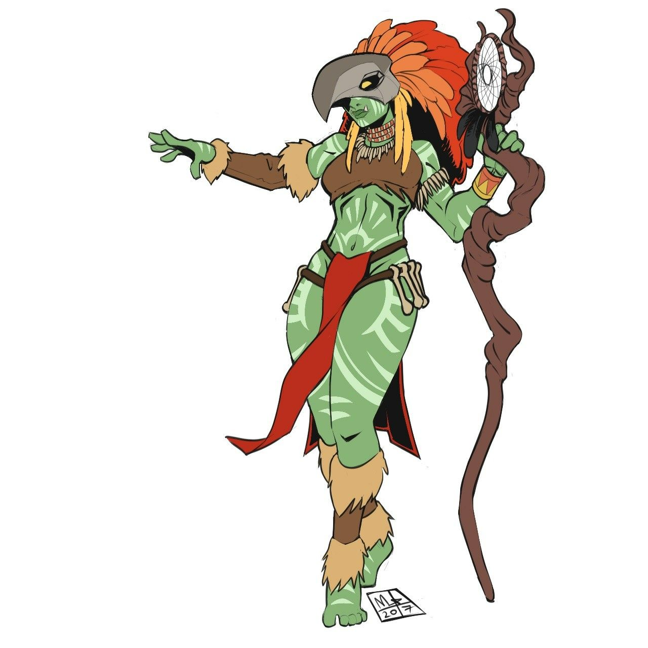 Female Orc Druid Dungeons And Dragons In 2018 Pinterest Fantasia T Shirt Pria Castlevania Death