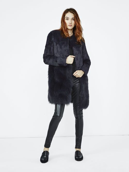 manteau fourrure femme maje
