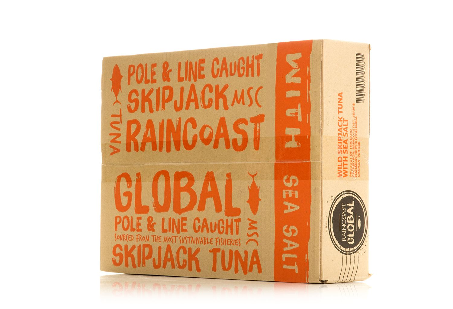 Raincoast global canned seafood on packaging of the world
