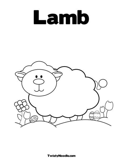 Lamb Coloring Page From Twistynoodle Com Animal Coloring Pages