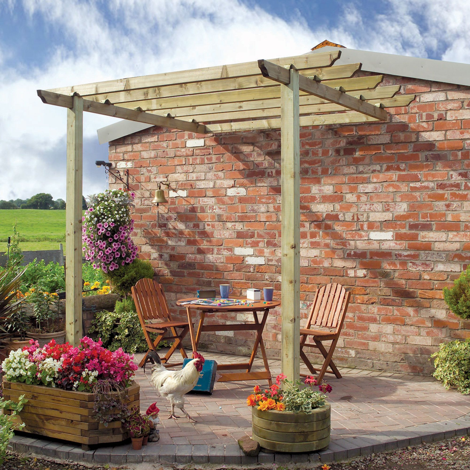 Grange Traditional Natural Patio Pergola B Q For All Your Home