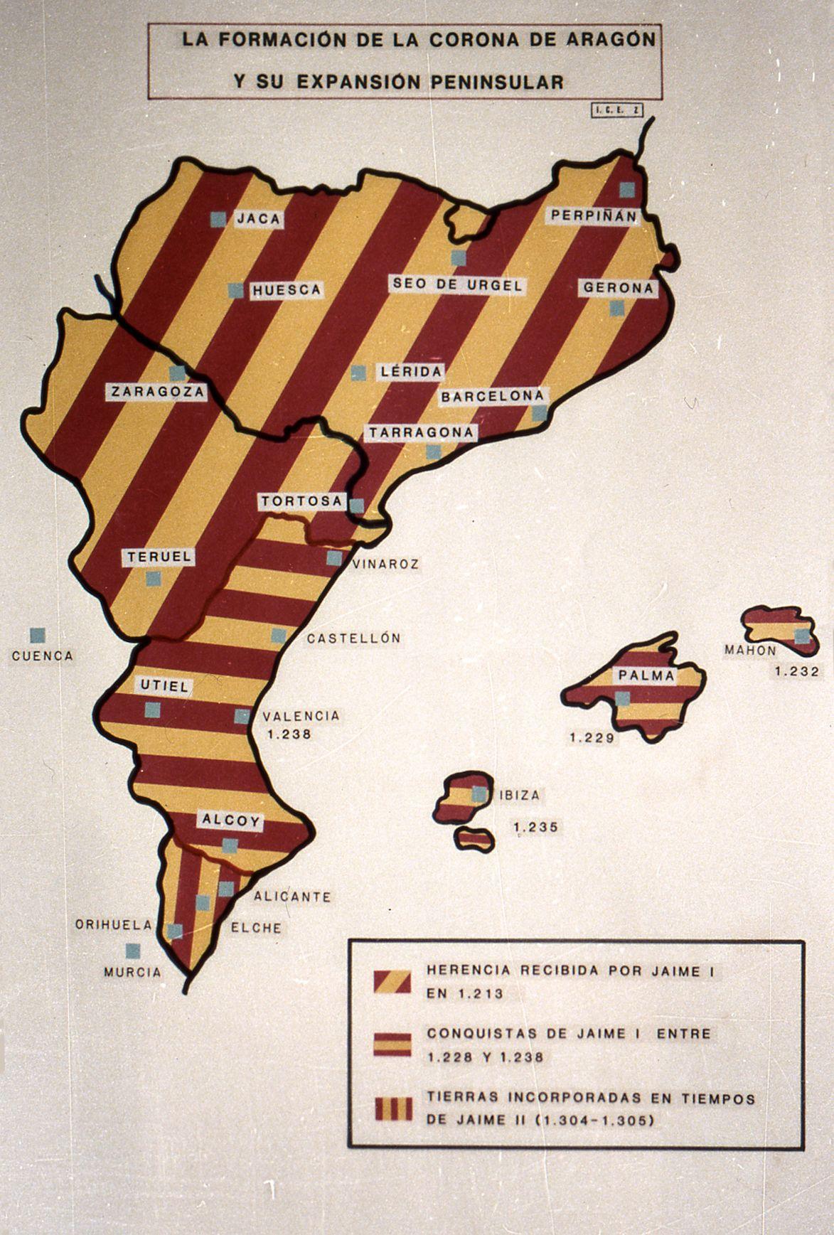 La Formación De La Corona De Aragón Y Su Expansión Peninsular Corona De Aragon Historia De España Mapa De España