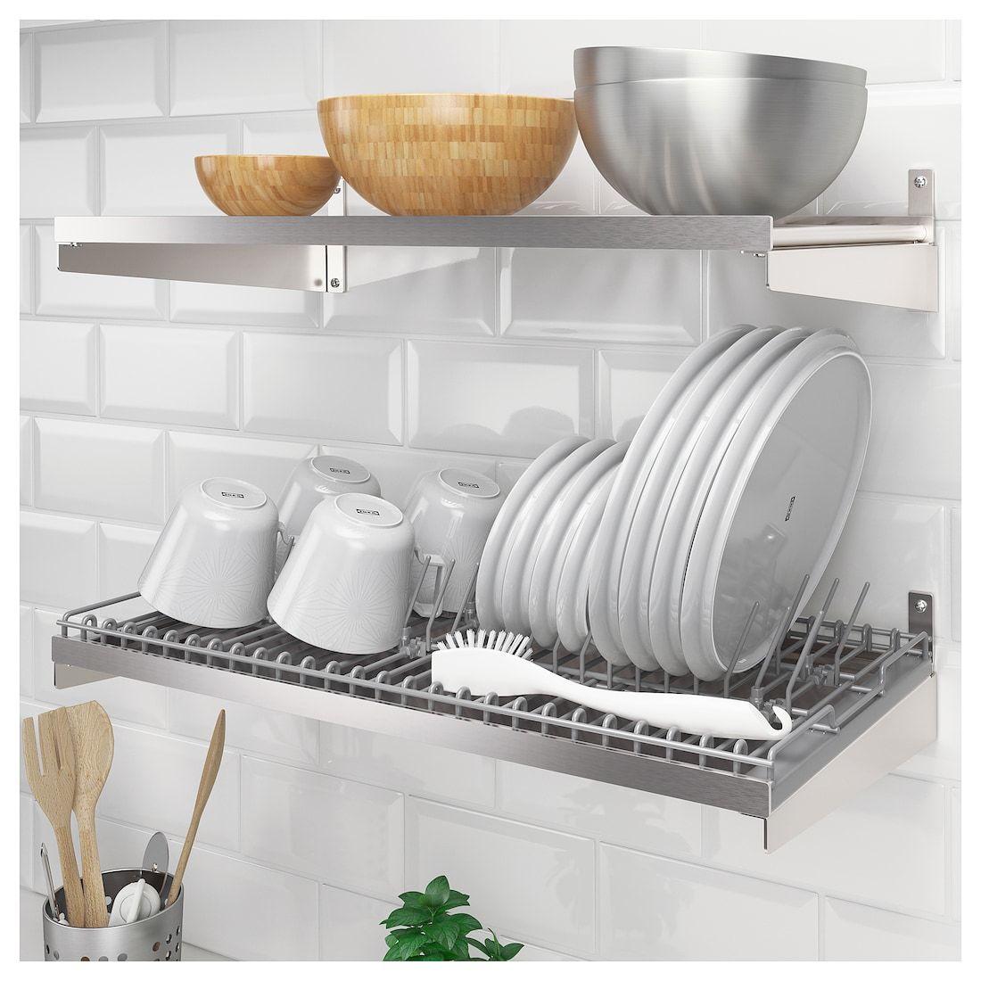Ikea Kungsfors Dish Drainer In 2020 Dish Drainers Kitchen Storage Kitchen Countertops
