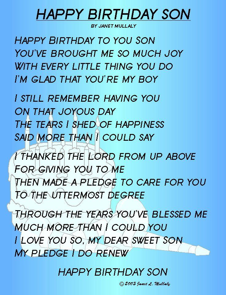 Mother To Son Birthday Quotes Quotesgram By Quotesgram Happy