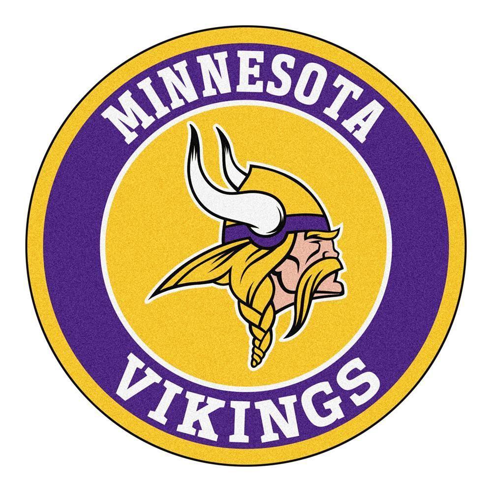 Minnesota Vikings Nfl Round Floor Mat 29 Stencil