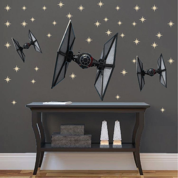 Tie Fighter Star Wars Wall Mural Decal Star Wars Wall Decal Murals Star Wars Wall Mural Star Wars Wall Decal Wall Mural Decals