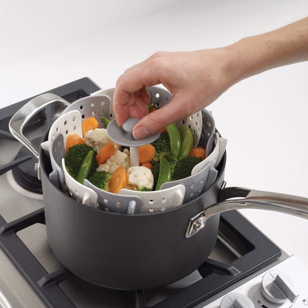 Gray Joseph Joseph 40024 Lotus Folding Food /& Vegtables Steamer Basket BPA-Free
