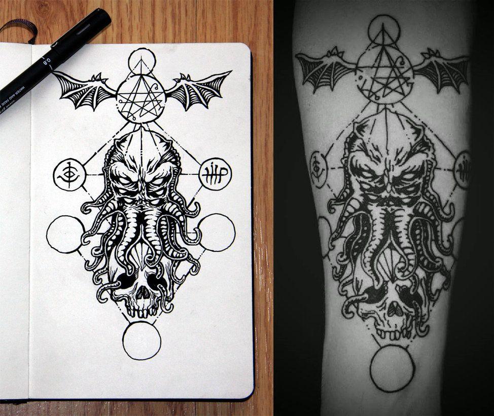 Cthulhu Tattoo Design By Jack Burton25 Cthulhu Tattoo Tattoos Tattoo Designs