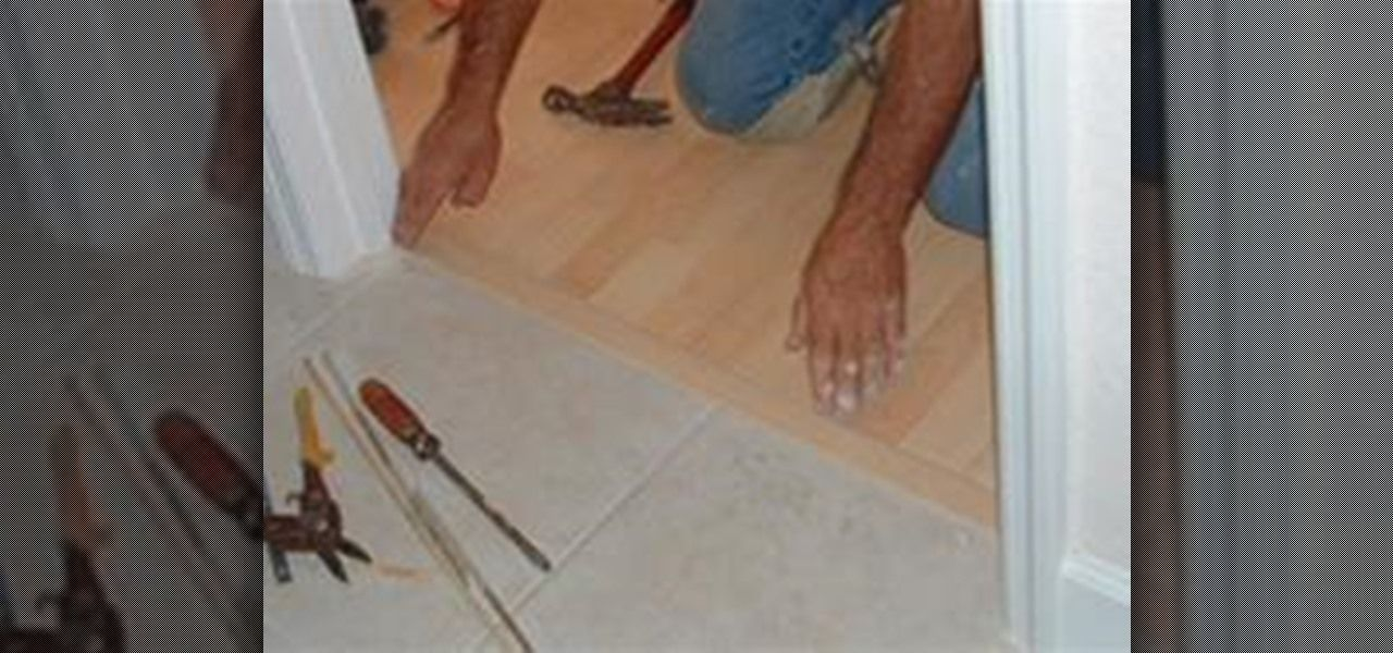 How To Install A T Mold Transition Between Laminate U0026 Ceramic Tile