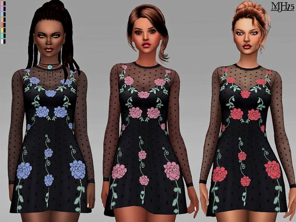 Zolando Dress by Margeh-75 at TSR • Sims 4 Updates