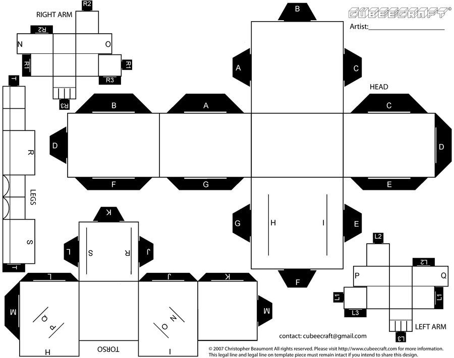 Regular Blank Cubee Template 1 By Viper005 Deviantart On
