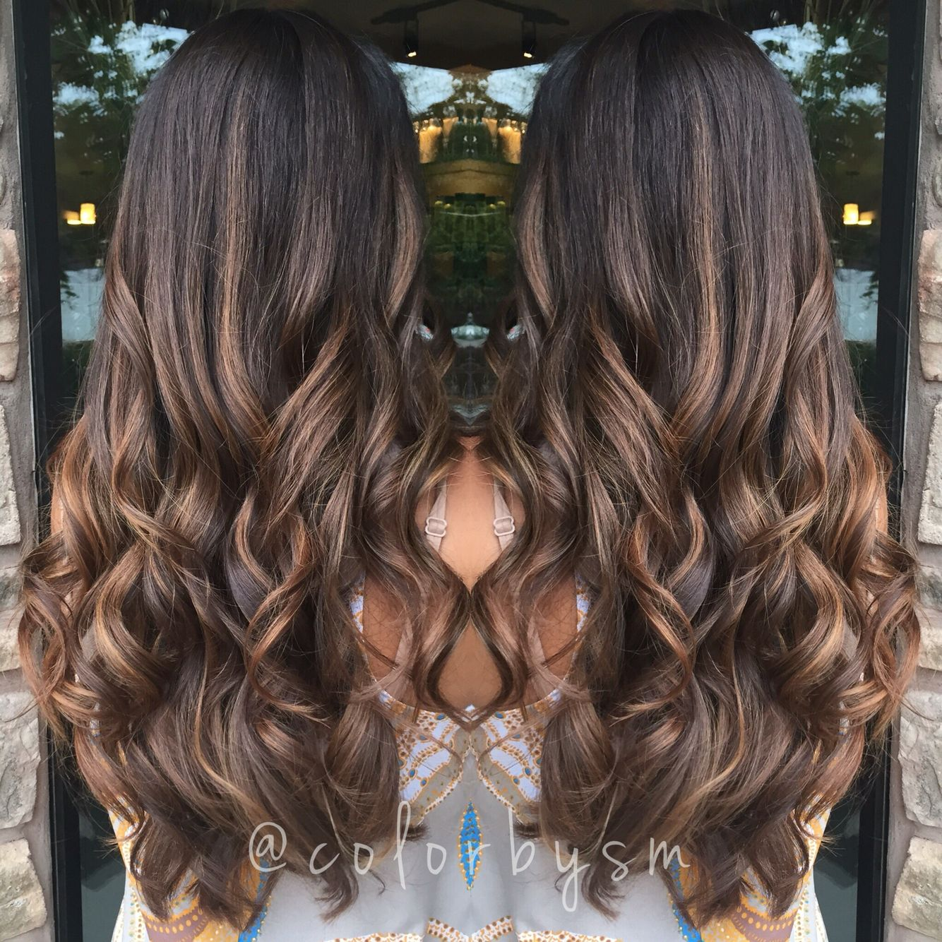 Long rich chocolate brown hair sun kissed with soft natural caramel balayage colorbysm - Balayage pour brune ...