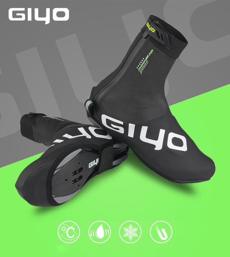 54fb2672a Check Price GIYO Unisex Bicycle Overshoes Windproof Fleece Heat Biking  Footwear Cowl Reflective Winter MTB Street Bike Shoe Covers Protector