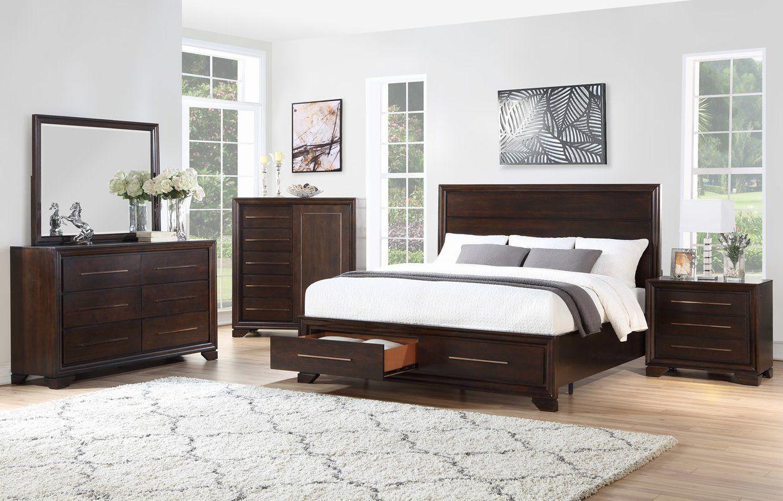 Catania Storage Platform Configurable Bedroom Set (With