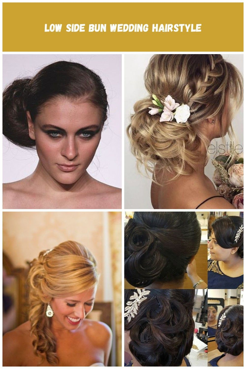 Brides: Low Side Bun Wedding Hairstyle. Side view at Melissa Sweet�