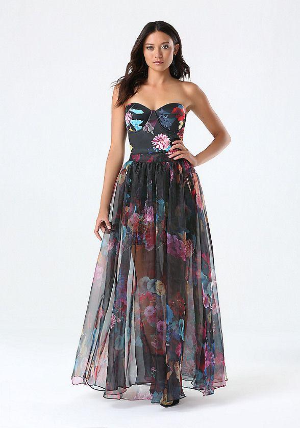 1b9603648e Organza Maxi Skirt Dress - Midi & Maxi | bebe | Dresses | Dress ...