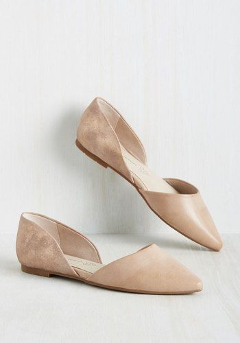 Miss Fancy Prance Flat in Rose Gold and Beige, @ModCloth