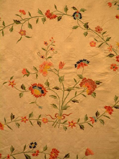 Silk dress panels