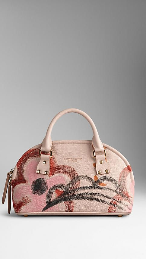 The Small Bloomsbury in Hand-painted Grainy Leather | Burberry Great artistic look - like carrying a work of art!
