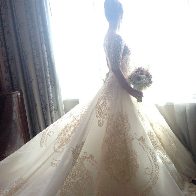 Embroidery And Lightness, Cary Santiago Gown (With Images