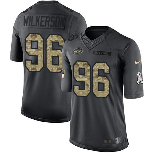 bc83081e31525 ... Muhammad Wilkerson Black Mens Stitched NFL Limited 2016 Salute Nike  Jets 15 Brandon Marshall Green Youth Stitched NFL Elite Rush Jersey Womens  New York ...