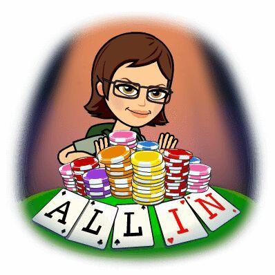 Poker night! Created with Bitmoji emoji apps Poker