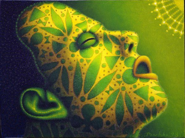 "Ed Paschke ""Green Head Two"" 1998"