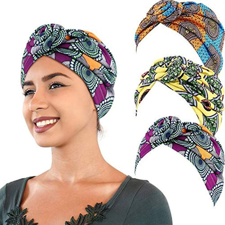 3 Stücke Afrikanischer Turban Afrikanischer Head Wrap Afrikanischer Print Stoff Mütze Afrikan... #afrikanischerdruck