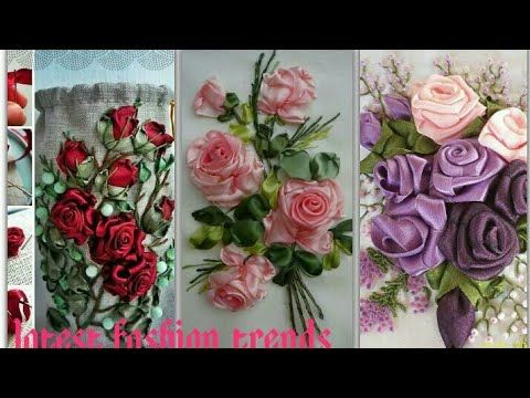 6600b4394b Ribbon work new Embroidery Design/ handmade Ribbon work flowers collection  - YouTube