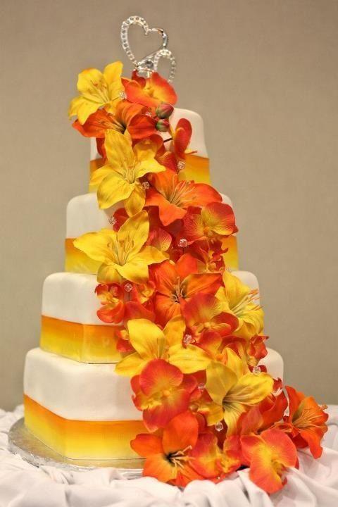 orange and yellow wedding cakes - Google Search | my wedding ...