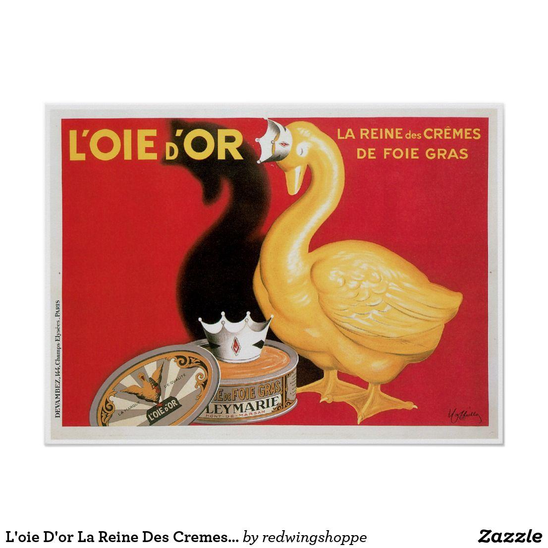 L Oie D Or La Reine Des Cremes Vintage Food Ad Poster Vintage Food Posters Food Ads Vintage Recipes