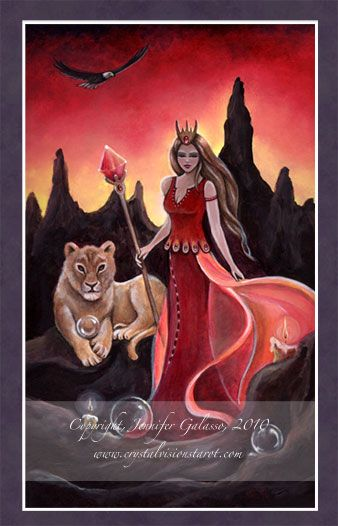 Queen of Wands, Crystal Visions Tarot: A Magickal Journey to