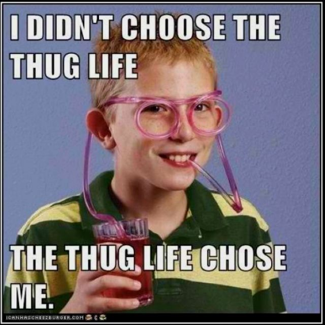 i choose the thug life!!! i choose the thug life!!!