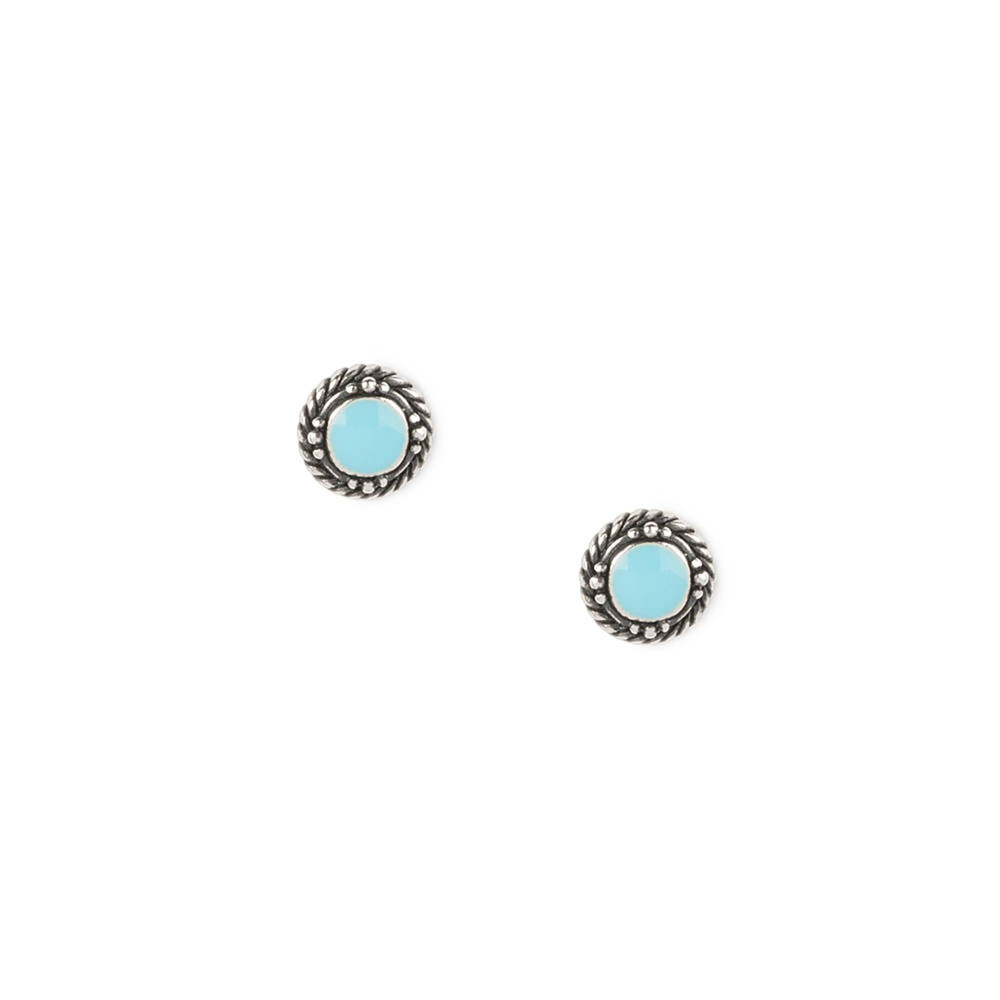 pic white gold turquoise stud vermeil products single flowers earring stones