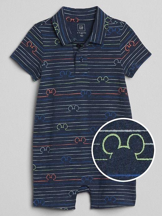 d61974b0e Gap Baby Babygap | Disney Mickey Mouse Shorty One-Piece Navy Stripe ...