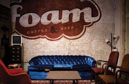 foam coffee shop