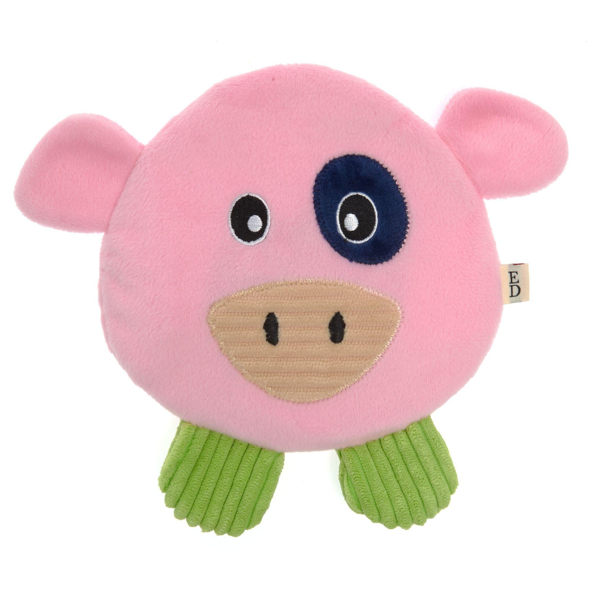 Ed Ellen Degeneres Pig Flattie Dog Toy Crinkle Dog Toys Hello