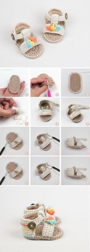 Crochet Baby Sandals - Crochet Kingdom