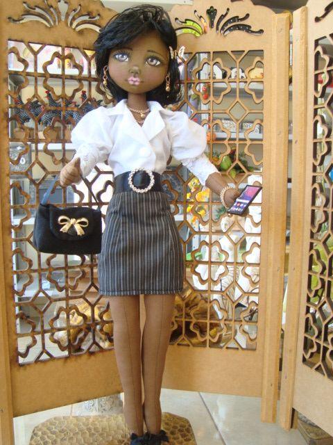 Bonecas de pano negra. Soraia Flores. | African cloth dolls | Pinterest