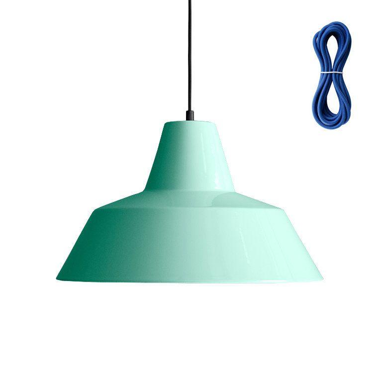 Besondere Deckenlen made by workshop 4 hängeleuchte mint kabelfarbe blau