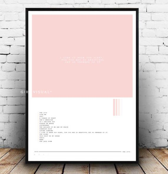 Y353 The 1975 I Like It When You Sleep Poster 27x40 24x36