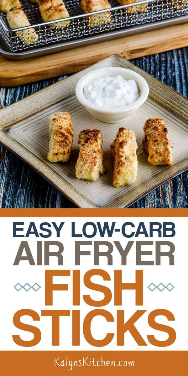 Easy LowCarb Air Fryer Fish Sticks Recipe Air fryer