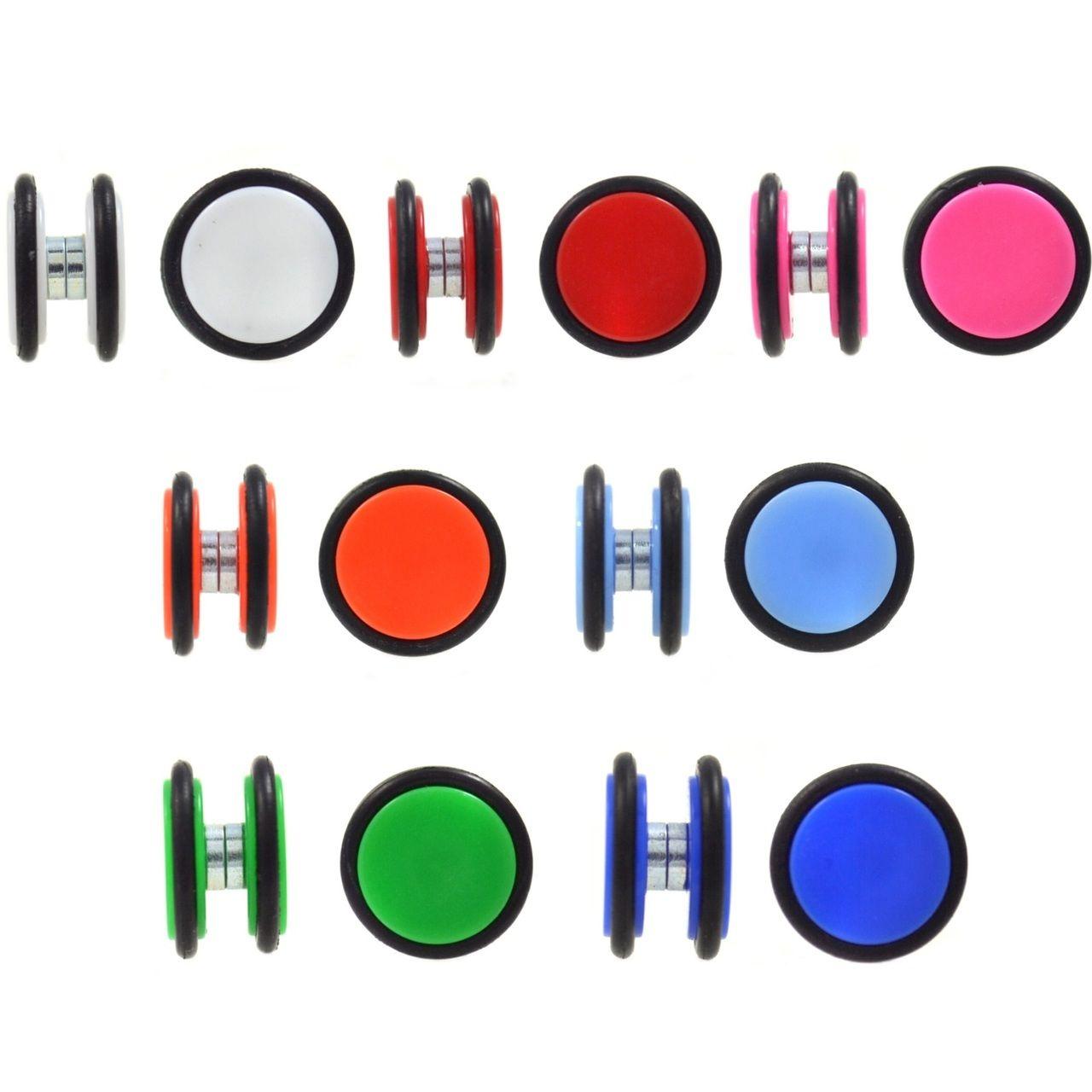 Sold by Pair Glow in the Dark Stripes Acrylic Freedom Fashion Fake Plug