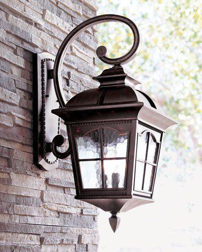 Colonial Three Light Wall Lantern Neiman Marcus In