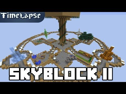 Minecraft Timelapse Skyblock Redux 4k 60fps Youtube