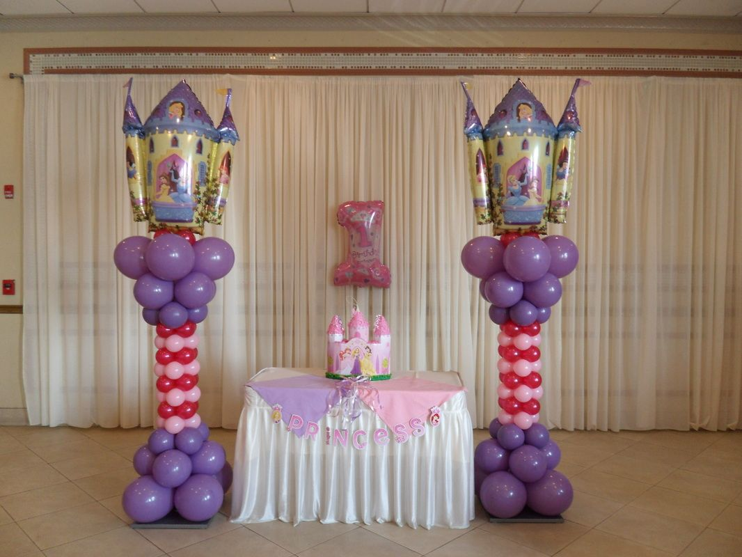 Princess Party Decoration Baloon Party Background Ideas Princess Party Party Decorations